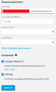 Admin SDK Directory API1